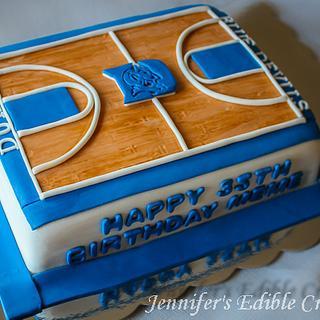 Fabulous Fondant Basketball Court 1 Cake Cakesdecor Funny Birthday Cards Online Kookostrdamsfinfo