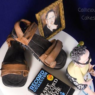 60th holiday cake