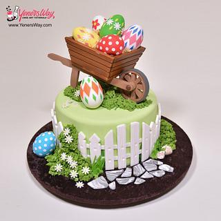 Easter Wheelbarrow Cake