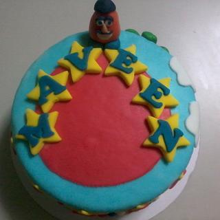 Birthday Cake with Potato Head ^_^
