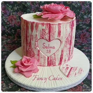 Painted wood effect Cake
