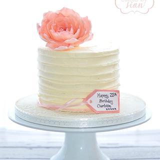 Peony Birthday Cake