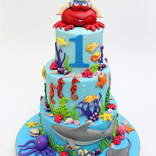 Sea World Theme Cake