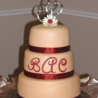Champagne Wedding Cake - Cake by Peggy Does Cake
