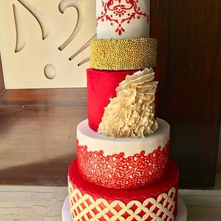 Modern Wedding Cake - Cake by Saniya Khan Sarguru
