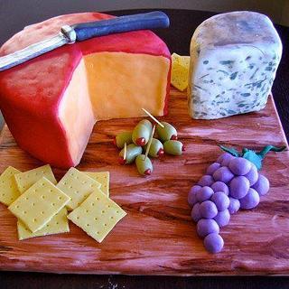 Cheese Plate Birthday Cake