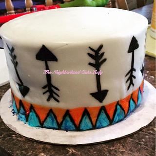 Arrow Baby Shower Cake