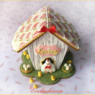 Easter cookie house