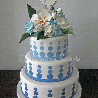 Ombré dots - Cake by Cristi