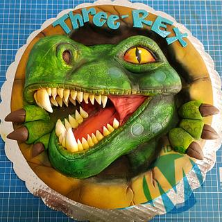 Pop out Dino cake