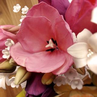 spring sugar paste flowers