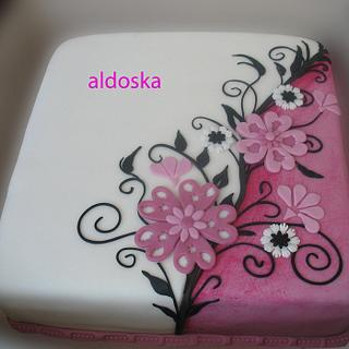 Fantasy flowers - Cake by Alena