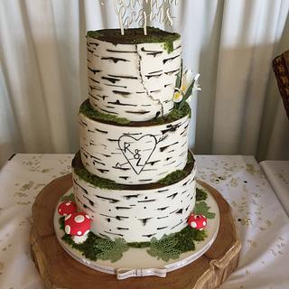 Woodland birch wedding