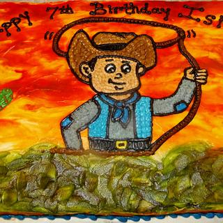 Western cowboy Buttercream birthday cake