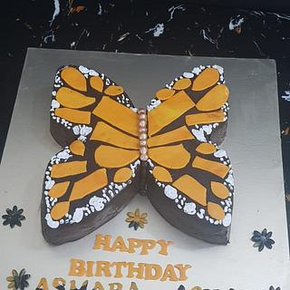 Butterfly cake for a cake order challenge accepted