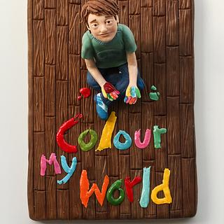 Colour my world (Sugar Art for Autism) - Cake by Tartas Imposibles