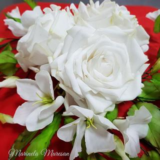 White flowers for the Pope Francis