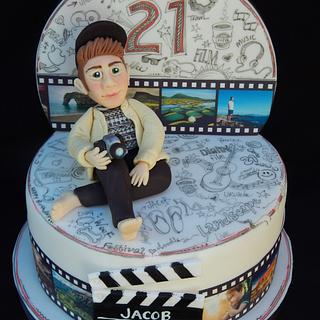 Doodle cake for film student