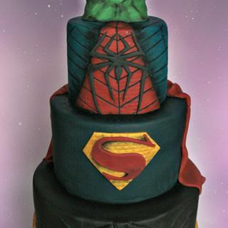 DC vs Marvel Super Hero Cake!