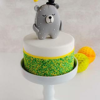 Modern Bear Cake