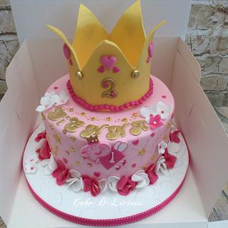 Peppa Pig Fairy Princess  - Cake by Sweet Lakes Cakes