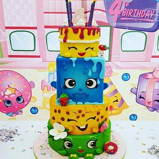 Shopkins stack  - Cake by Rabarbar_cakery