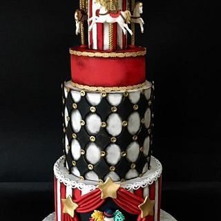 Vintage circus cake