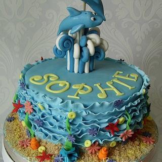 Dolphin ruffle cake