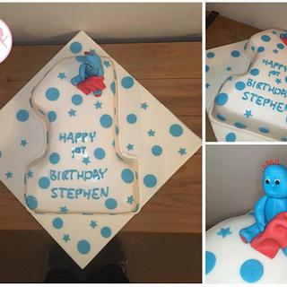 1st Birthday Cake featuring Iggle Piggle!