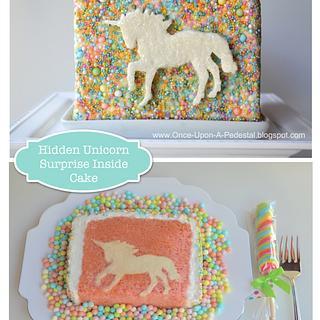 Surprise Inside Unicorn - Cake by Deborah Stauch