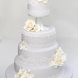 Pewter Lace Cake