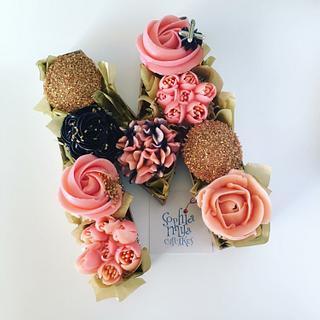 "Happy ""M""other's Day - Cake by Sophia Mya Cupcakes (Nanvah Nina Michael)"