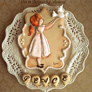 PEACE - Cake by artetdelicesbym