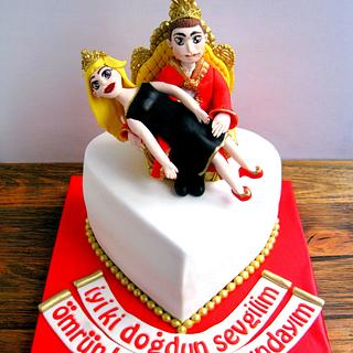 King and Queen Birthday Cake