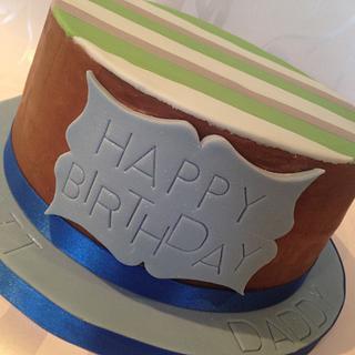 Naked Chocolate Ganache Birthday Cake