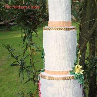 Vintage themed wedding cake - Cake by Jocelyn Ryan