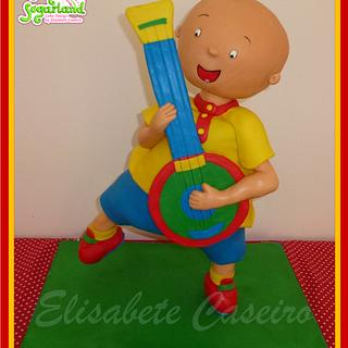 Caillou cake standing on one leg