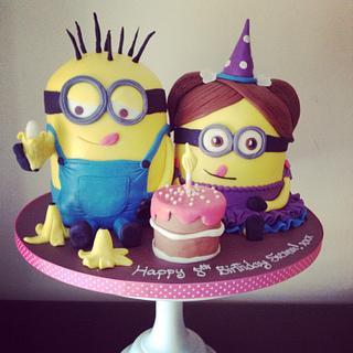 Minion party cake!