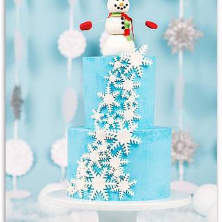 Snowflake Smash Cake