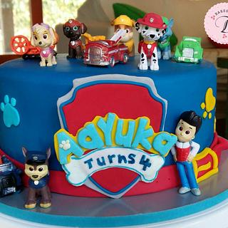 Paw Patrol Cake_ 4th Birthday