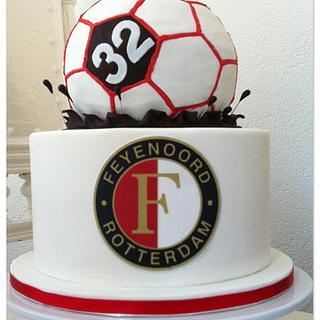 Feyenoord Football Cake - Cake by Olivia's Bakery