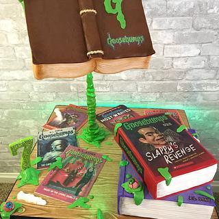 Goosebumps book cakes