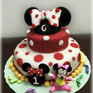 minnie mouse cake  - Cake by Pamela Iacobellis