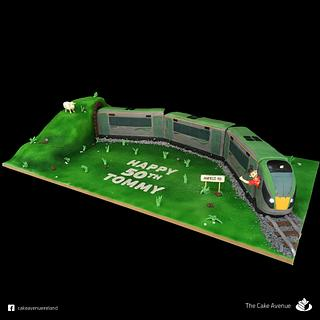 Irish Rail Train Cake