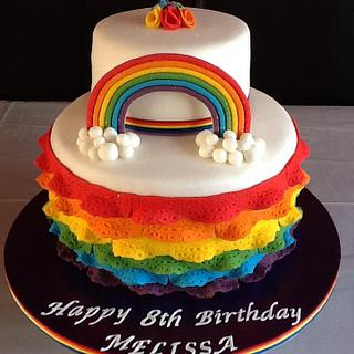 Rainbow cake. - Cake by Michelle.