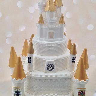 Medieval castle wedding cake - Cake by Yvonne Beesley