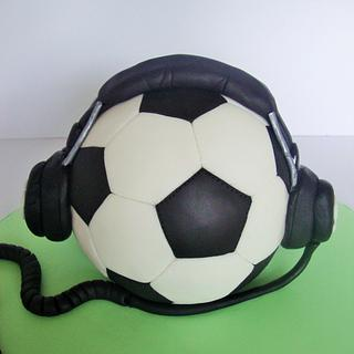 Football and music cake