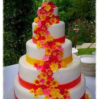 gipsy chic wedding cake