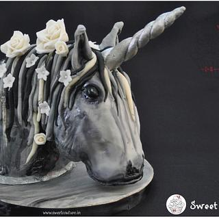 The Monochromatic Unicorn - Cake by Sunaina Sadarangani Gera