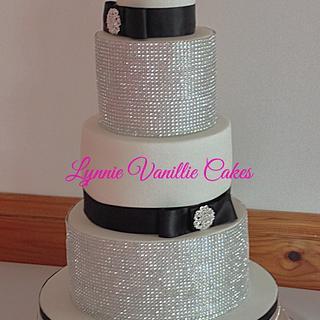 Blingy wedding cake